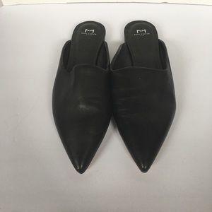 Marc fisher black slide on mule shoes sz 9.5m
